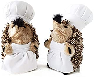 Chef Hedgehog Dog Toys Chewer - Cute & Chubby Dog Toy Squeaker & Crinkle Noise 2 in 1 Stuffed Plushie - Hedgehog Dog Chew Toy for All Dogs - Cute Dog Toys Collection by Lily Anne Boutique