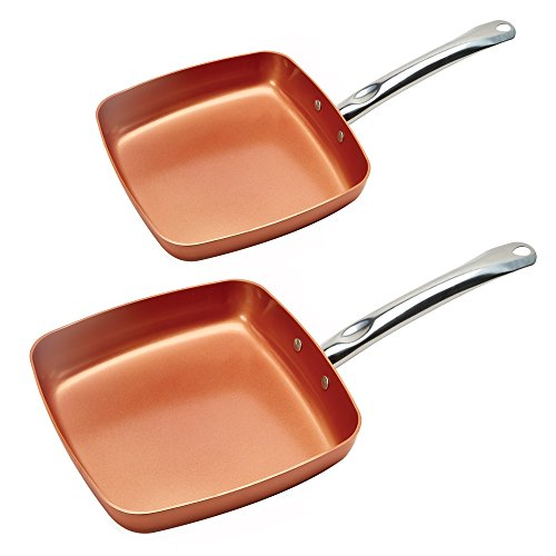 Copper Chef Fry Pan 8 and 9.5 Inch