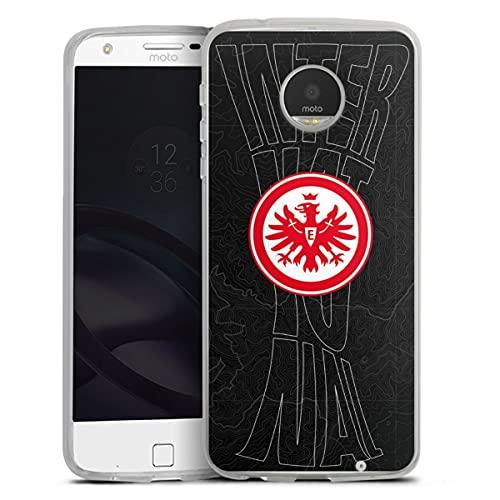 DeinDesign Silikon Hülle kompatibel mit Lenovo Moto Z Play Hülle transparent Handyhülle Eintracht Frankfurt SGE Pokal