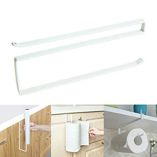 Estante de papel debajo del gabinete, soporte de rollo de toalla de papel de cocina, para baño de cocina, estante de acero inoxidable almacenamiento de papel higiénico