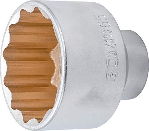 BGS 7465 Inserto per Chiave a Bussola dodiagonale, Attacco Interno Quadrato 20 mm (3/4 Pollici) SW 65 mm, Cromato, Opaco, Schlüsselweite