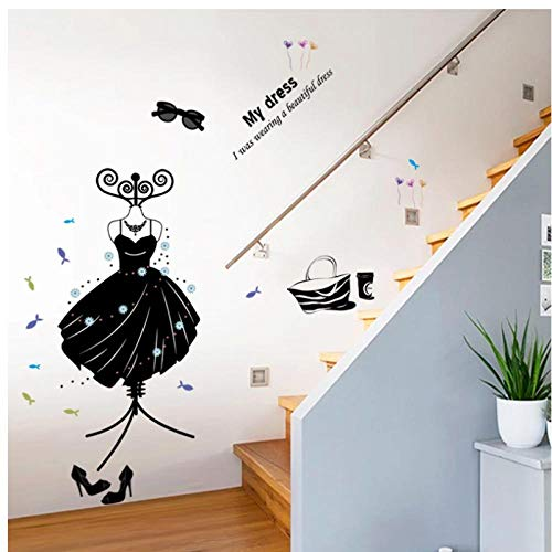 HDKSA Envío gratis productos ropa zapatos sombreros sala de estar dormitorio decoración del hogar pegatinas de pared negras en la pared gafas percha-83cm * 110cm