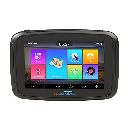 FODSPORTS Navigatore GPS 5 Pollici, Android 6.0 Sistema di Navigazione GPS Auto Moto con Aggiornamenti Tramite Wi-Fi, ROM Da 16GB Navigatore Satellitare, Chiamate in Vivavoce