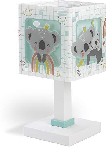 Dalber Koala Lámpara Infantil Mesilla, 40 W, Verde