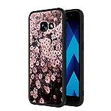 Yoedge Coque Samsung Galaxy A3 2017, Etui en Silicone avec Noir Motif Design Antichoc Housse de...