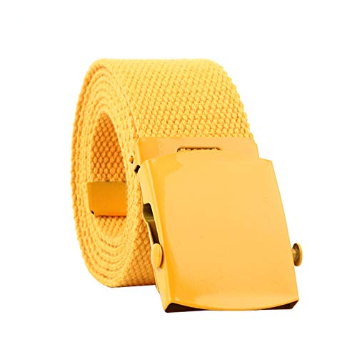 Cinturones amarillos para hombre, 110 * 3.8cm
