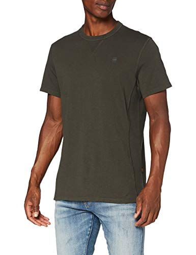 G-STAR RAW Premium Core Camiseta, Asfalto C336-995, Medium para Hombre