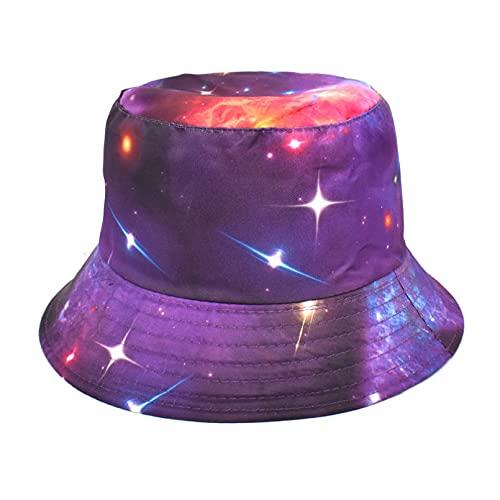 PKYGXZ Sombrero de Pescador con Estampado de Moda para Mujer, Sombreros de Cubo con Personalidad de la Calle, Gorra con Visera de Viaje para Deportes al Aire Libre, Sombrero Plano de Playa Hip Hop
