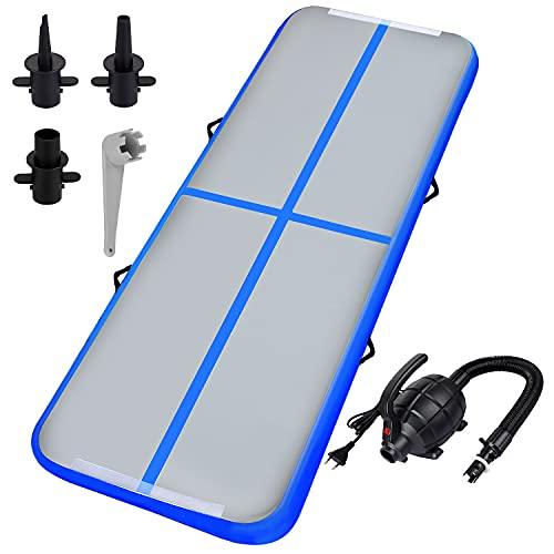 Airtrack Matte - Aufblasbar Tumbling 300cm Turnmatte Gymnastikmatte mit Elektrischer Luftpumpe für Trainingsmatte Sportmatte Yoga