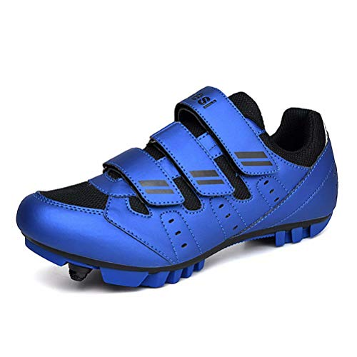Hombre Zapatillas de Ciclismo con Calas MTB Antideslizante Specialized Zapatos de Bicicleta de Carretera Mujer Montaña Al Aire Libre Transpirable Cómodo Azul 39