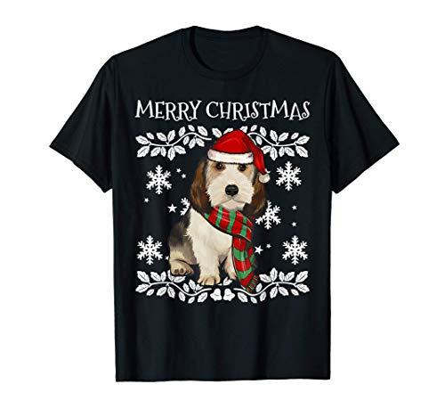 Feliz NavidadGrifón Vandeano Basset Pequeño Ugly Christmas Camiseta