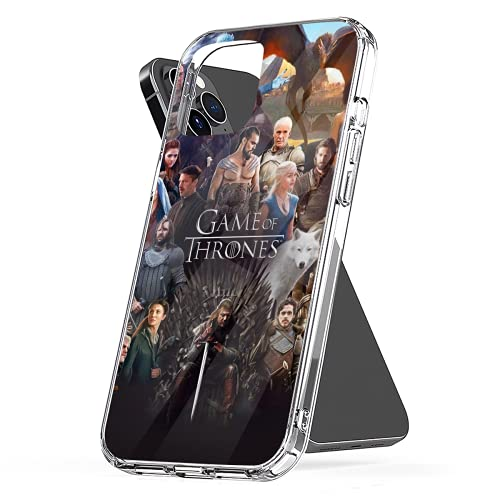 Phone Case Compatible with iPhone 11 12 6 2020 8 Se X 7 Xr Game 6s of Plus Throne Xs Collage Pro Max Mini Photo Mixed Combine Jumbo Collage Media