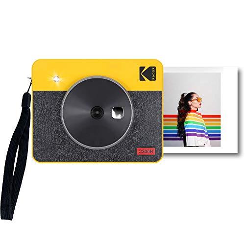 Портативная фотокамера и фотопринтер Kodak Mini Shot 3 Retro, iOS, Android и Bluetooth, 76x76 мм, технология 4Pass, 8 листов - белый цвет