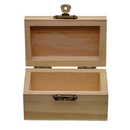 kowaku Caja de Almacenamiento para El Hogar de Bricolaje de Madera Natural con Tapa, Organizador de Hogar