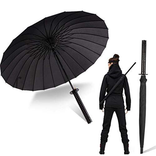 Long Handle Umbrella Samurai Sword Outdoor Sun&Rain Umbrella Windproof...