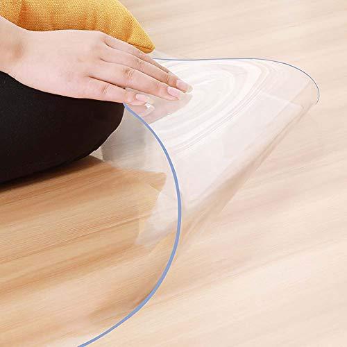 XXZG PVC Bodenschutzmatte Transparent Büromatten Bürostuhlunterlage Für Hartböden Laminat, Parkett Und Fliesen,Top-Qualität,Stärke: 2 Mm (60~120cm) Erhältlich In 18 Größen