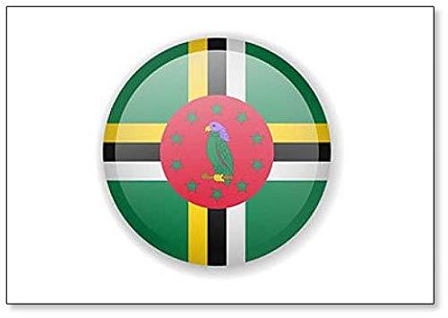 Kühlschrankmagnet Dominica-Flagge, r&, hell