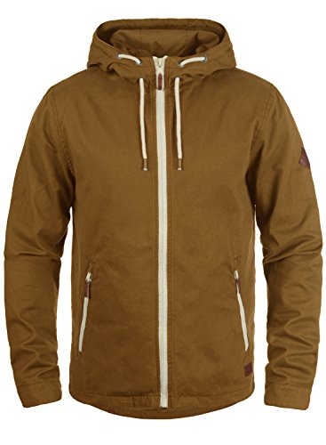 Blend Bobby Herren Übergangsjacke Herrenjacke Jacke gefüttert mit Kapuze, Größe:L, Farbe:Dark Mustard (75116)