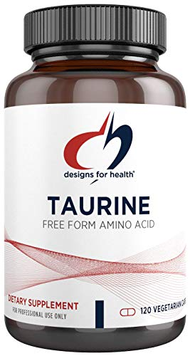 Designs for Health Taurine Capsules - 1000mg (1g) Taurine Amino Acid Pills - Cardiovascular Support - Non-GMO + Vegetarian Supplement (120 Capsules)