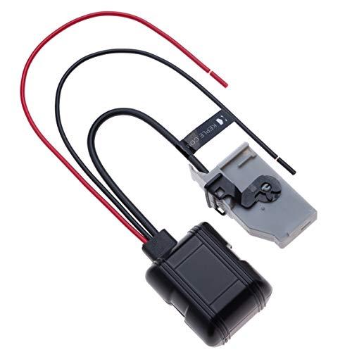 32 Pin 12V ingresso per l'interfaccia musicale Bluetooth MP3 Audio Adapter Compatibile con Audi A3, A4, S4, A5, S5, S6, A8, S8, Q3, Q5, Q7, TT R8, VW Jetta Golf Mk6 Passat Tiguan Wagon Skoda Seat