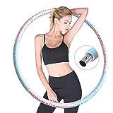 XKUN ula bulaHula Hoop Ajustable Aros de Fitness Pérdida de Peso Desmontable Hula Hoop Adultos pérdida de Peso Accesorios de Fitness(Pink Blue)