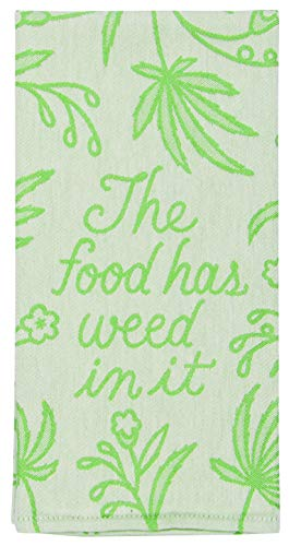 Blue Q Food Has Weed in It Dish Towel