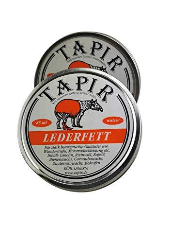 Tapir Lederfett für beanspruchte Glattleder Natur 85 ml: Farbe: Set 2X Lederfett 85 ml