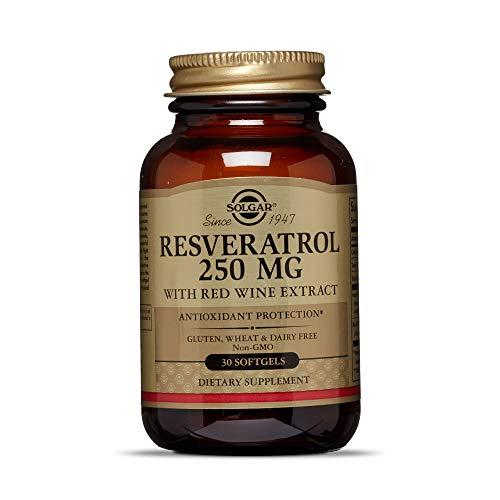 Solgar Resveratrol Cápsulas blandas de 250 mg - Envase de 30