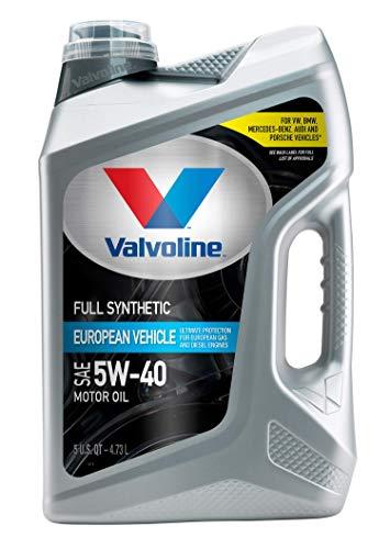 Valvoline European Vehicle Full Synthetic SAE 5W-40 Motor Oil 5 QT