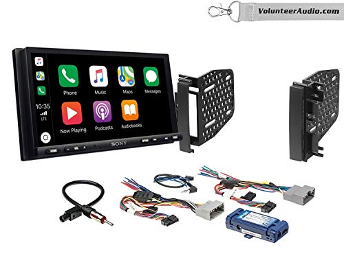 Sony XAV-AX7000 Double Din Radio Install Kit With Apple Carplay, Android Auto, SiriusXM Fits 2009-2010 Ram 2011-2014 Chrysler 200 (Retains Steering wheel controls)