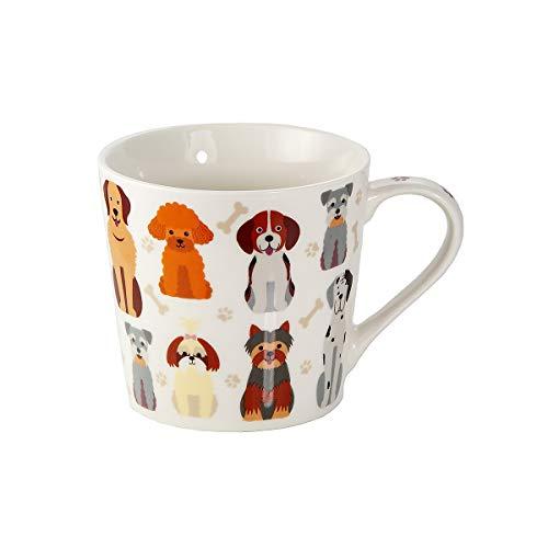 Taza de Café Te Originales, Taza Grande Mug, Resistente a Lavavajillas y Microondas, Taza con Perros y Perritos, Regalos Perros Mujer Hombre y Madre Perros