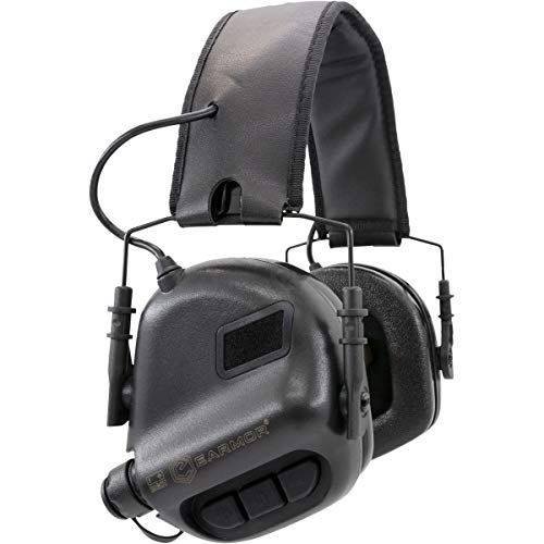 OPSMEN M31 Electronic Shooting Noise Safety Ear Earmuff Sport Sound Amplification Protection Black