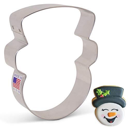 Ann Clark Cookie Cutters Snowman Head/Face Cookie Cutter by Flour Box Bakery, 4'