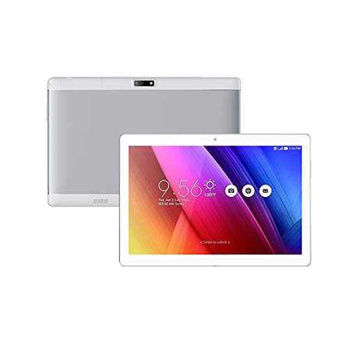 Grborn KT107 Quad Core 10,1 Zoll Metall Tablet PC Thin Business Computer Android OS IPS Touchscreen 1280 * 800 Silber EU-Stecker