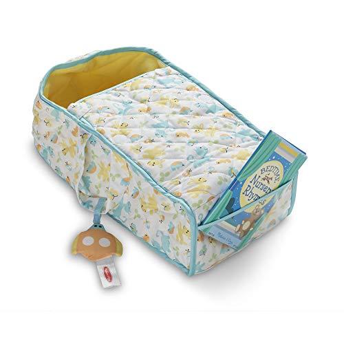 Melissa & Doug Mine To Love Bassinet Play Set Portable Carrier for Dolls (Crinkle Toy, Nursery Rhyme Book)