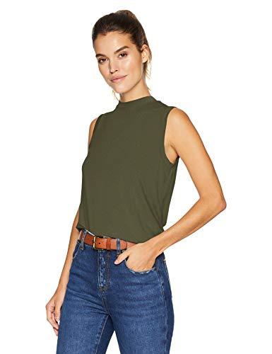 Daily Ritual Jersey Sleeveless Boxy Mock-Neck Shirt novelty-tank-tops, waldgrün, US XL (EU 2XL)