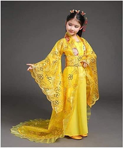 N\A ZT Vestido dramatrgico de la nia Hermosa Vestido de Baile de classicismo nios Vestido Antiguo Cosplay (Color : Yellow, Size : Small)