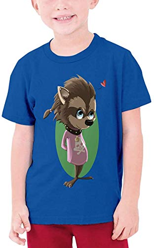 Boy Werewolf-Winnie-Hotel-Transylvania T Shirt Summer Crew Neck Tee Tops Daily,Blue,Medium