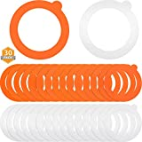 30 Pieces Silicone Replacement Gasket Airtight Rubber Sealing Rings for Regular Mouth Canning Jars Silicone Jar Gaskets Leak-proof Canning Silicone Fitting Seals, 3.75 Inch