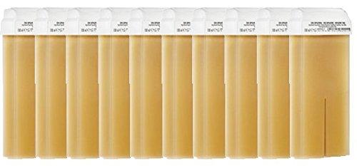 10 Cartouches de cire à épiler JAUNE MIEL, cartouche de cire standard pour épilation avec bande, PUREWAX By Purenail