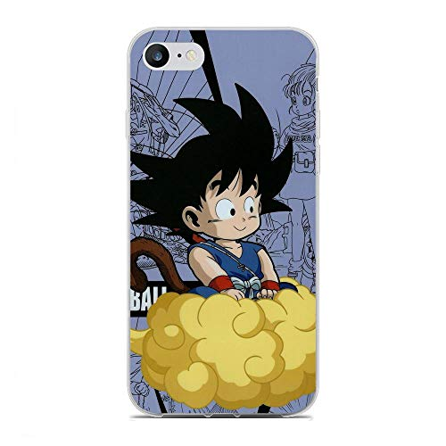 Fashionshot Transparent Slim Liquid Flexible Fundas Soft Case Back Cover for Apple iPhone 6/6s-Super Goku-DBZ Blue 7