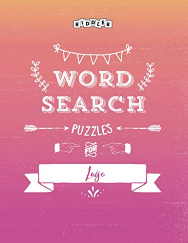 Word Search Puzzles for Luise