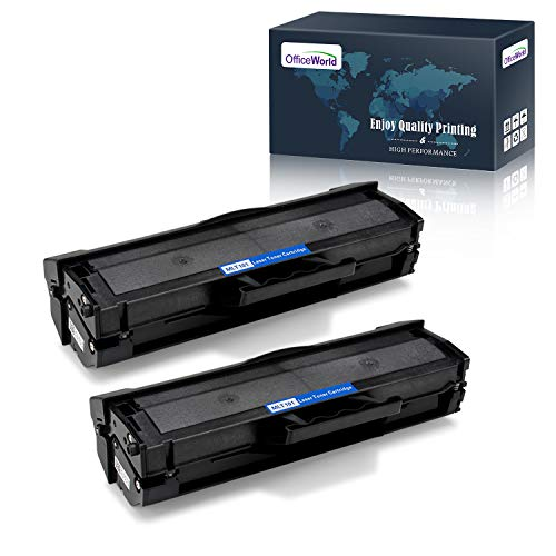 OfficeWorld Compatible Toner Cartridge Replacement for Samsung 101S MLT-D101S MLTD101S (Black, 2 Packs), Compatible with Samsung ML-2165W SCX-3405FW SF-760P ML-2160 ML-2165W Printer