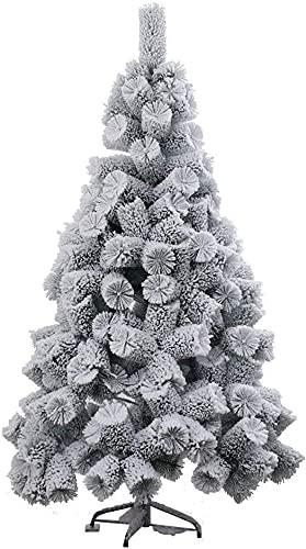 LSDRALOBPOI Weihnachtsbaum künstlich Christbaum Schnee beflockter künstlicher Weihnachtsbaum PVC-Weihnachtsbaum mit Metallständer 816(Color:White;Size:5ft)
