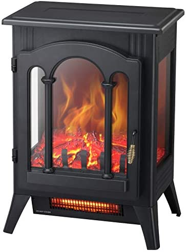 Kismile 3D Infrared Electric Fireplace Stove Freestanding Fireplace Heater With Realistic Flame product image