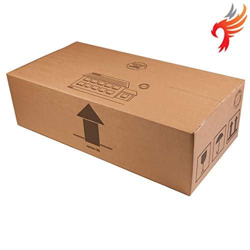 2 x Very Large Cardboard S/W TV Mirror Picture House Moving Boxes 36x19x11' (91 x 48 x 28cm), Free Express Delivery