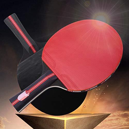 DAUERHAFT Boliprince Ping Pong Paddle Raqueta de Tenis de Mesa para 2 Jugadores, Raqueta de Tenis de Mesa, con 3 Pelotas, para Jugadores con Agarre de Mano, para Principiantes