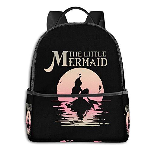 The Little Mermaid Ariel Rock Moon High School Boys Outdoor Cycling Backpack Girls High Capacity Antitheft Backpack