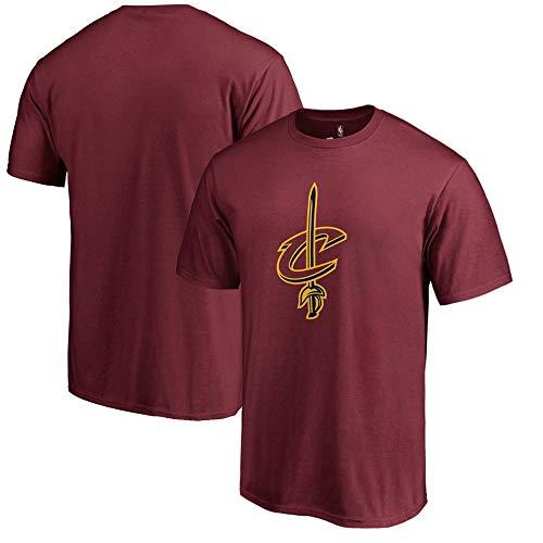 LXY-Sports T-Shirt NBA Cleveland Cavaliers Fan Stampato Leisure T-Shir Jujube Rosso, XXXL
