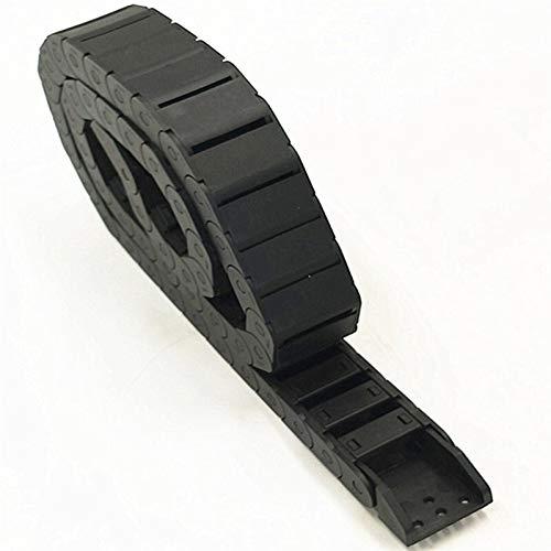 Kabel Schleppkette 15 * 15 15 * 20 15 * 30 15 * 40 und R38 18 * 18 18 * 25 18 * 37 18 * 50 mm Kabelschleppkette Drahtträger mit Endanschluss für CNC-Router (Inner Size : 18x25mm Semi closed)